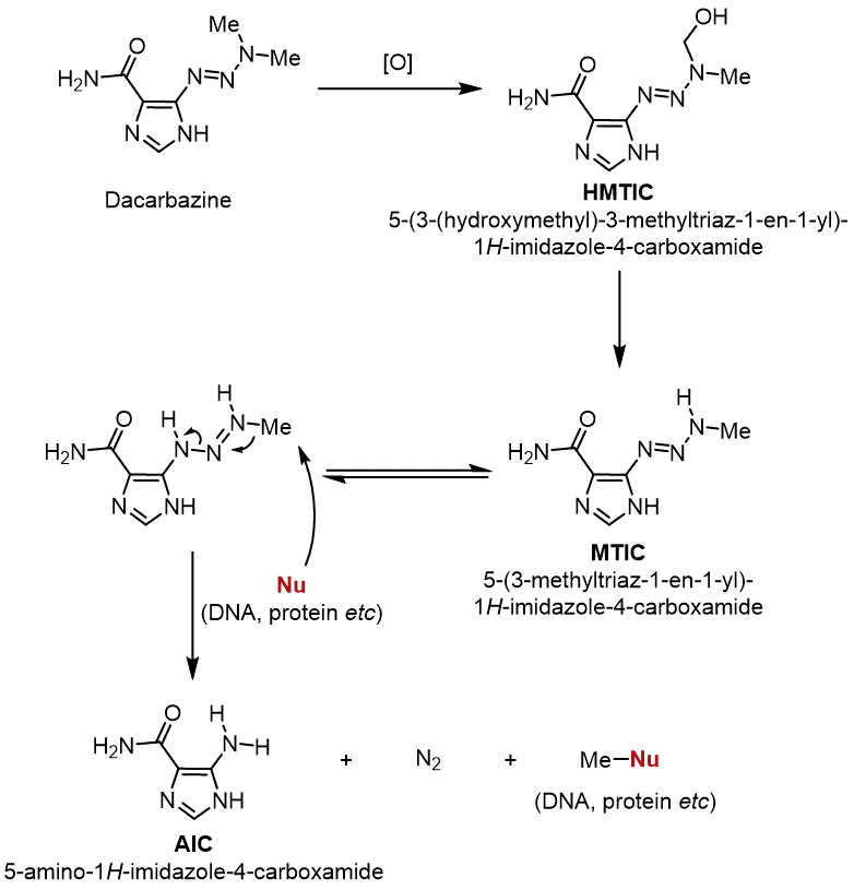 ダカルバジンの作用機序